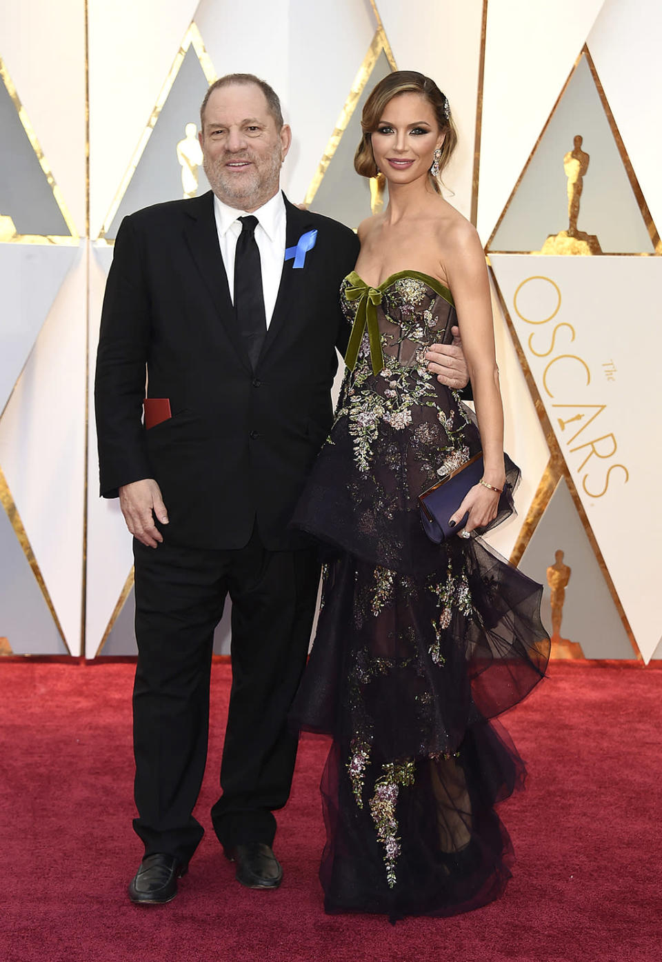 <p>Harvey Weinstein and Georgina Chapman arrive at the Oscars on Sunday, Feb. 26, 2017, at the Dolby Theatre in Los Angeles. (Photo by Jordan Strauss/Invision/AP) </p>