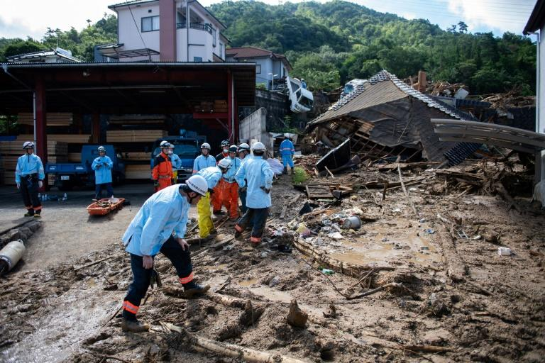 Around 10,000 people whose homes were buried by landslides or submerged in flood waters are still in shelters