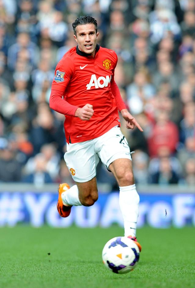 Manchester United's Robin van Persie during the English Premier League soccer match between West Bromwich Albion and Manchester United at The Hawthorns Stadium in West Bromwich, England, Saturday, March 8, 2014. (AP Photo/Rui Vieira)