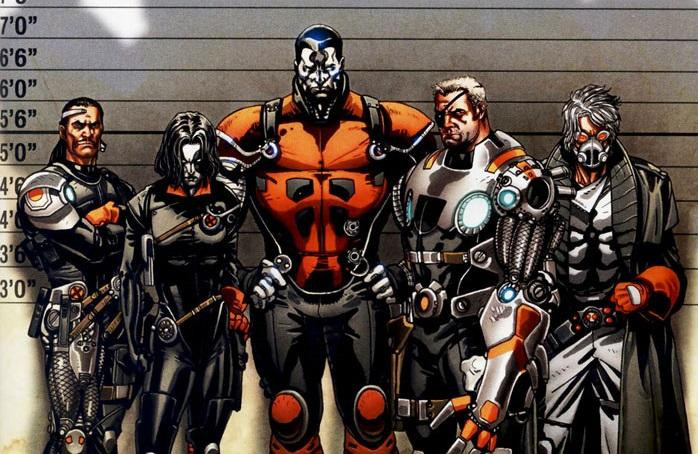 One comic book line-up of 'X-Force,' featuring Cable (credit: Marvel Comics)