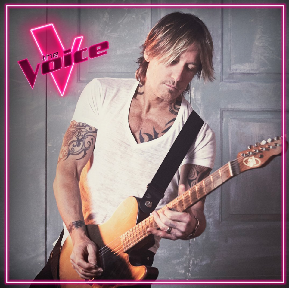 Keith Urban playing guitar is a new coach The Voice Australia 2021