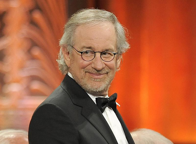 """FILE - This June 7, 2012 file photo shows director Steven Spielberg at the AFI Life Achievement Award Honoring Shirley MacLaine at Sony Studios in Culver City, Calif. Spielberg has extended his domination at the Directors Guild of America Awards, earning his 11th film nomination Tuesday, Jan. 8, 2013, for his Civil War epic """"Lincoln."""" (Photo by Chris Pizzello/Invision/AP, file)"""