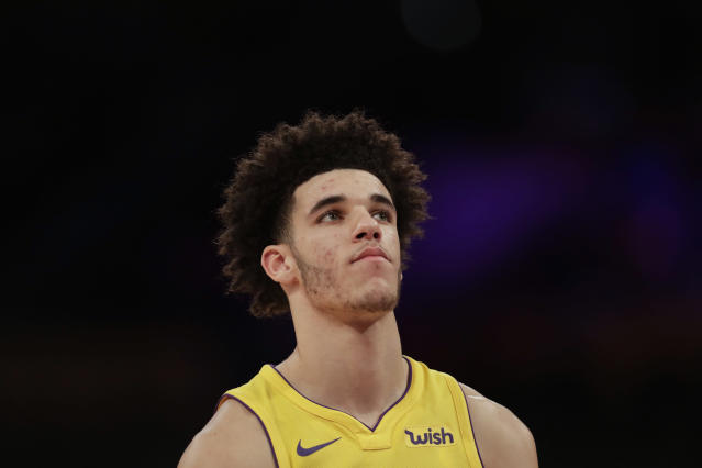 Lonzo Ball is letting the NBA get to his head. (AP)