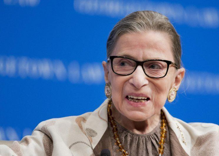 Supreme Court Justice Ruth Bader Ginsburg speaking at Georgetown University Law Center in 2015. (Photo: Manuel Balce Ceneta/AP)