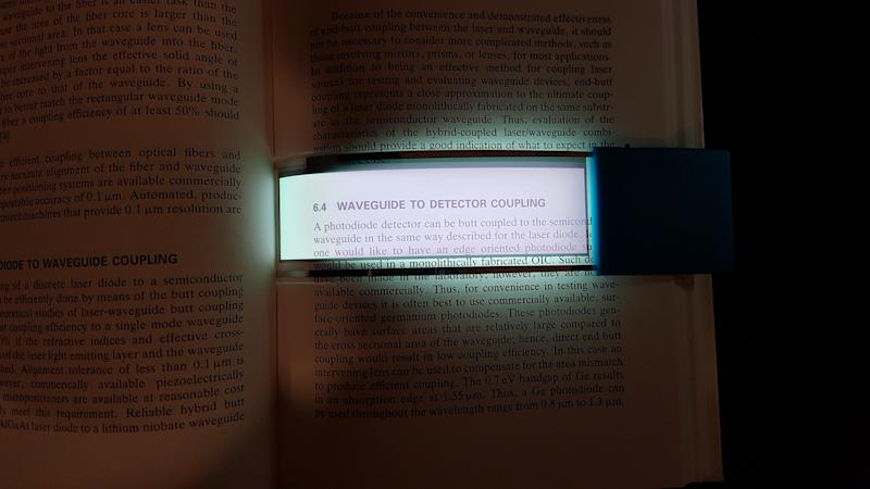A concept transparent OLED book light from Universal Display