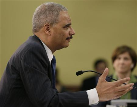 U.S. Attorney General Holder appears before the House Appropriations Commerce, Justice, Science and Related Agencies subcommittee, on Capitol Hill in Washington