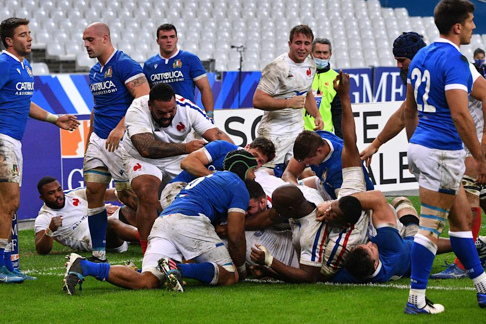 A French second-string beat Italy 36-5 on Saturday nightAFP via Getty
