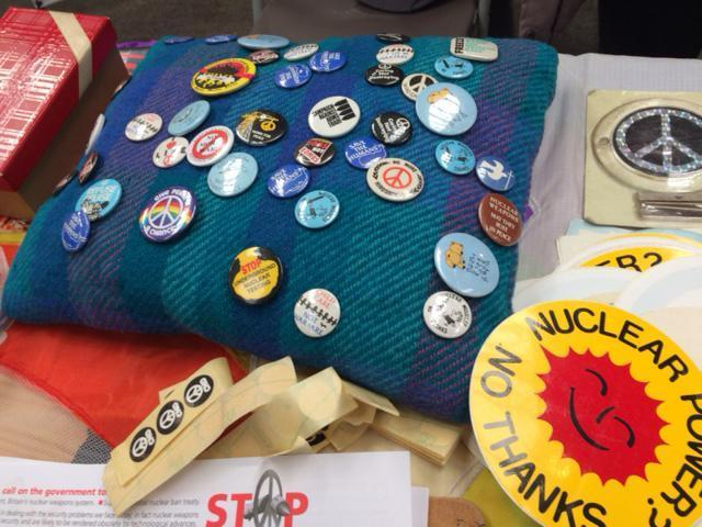 A selection of badges available at one of the stalls (Sean O'Grady)