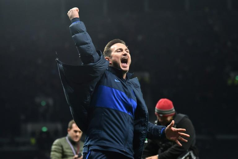 Winning feeling - Chelsea manager Frank Lampard celebrates a 2-0 win at Tottenham Hotspur