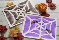 """<p>As they paint over a """"magical"""" sugar mixture, your kids will be shocked to see a unique design appear beneath it. Pro tip: Customize these invisible paintings with different designs for every holiday, and your kids will always have something fun to do.</p><p><strong>Get the tutorial at </strong><strong><a href=""""https://modpodgerocksblog.com/easy-halloween-crafts-for-kids-sugar-drawings/"""" rel=""""nofollow noopener"""" target=""""_blank"""" data-ylk=""""slk:Mod Podge Rocks"""" class=""""link rapid-noclick-resp"""">Mod Podge Rocks</a></strong><strong>.</strong><br></p>"""