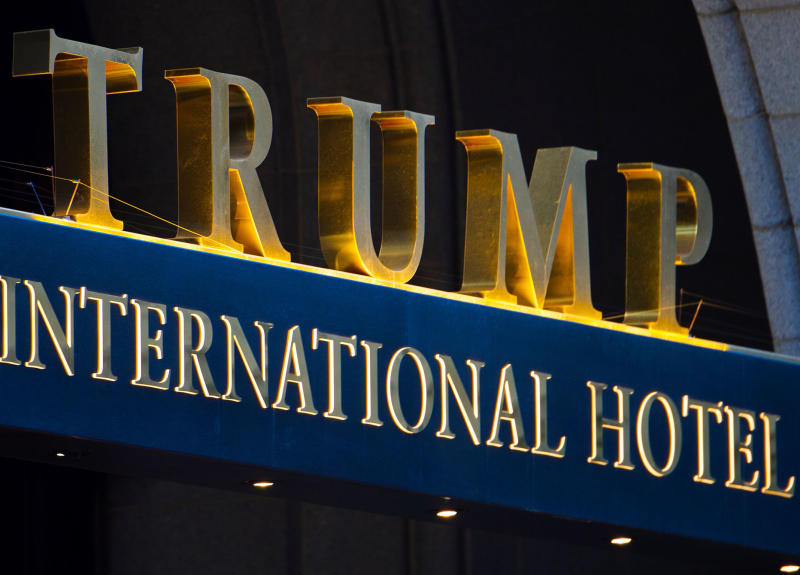 Critics have long argued the Washington-based Trump International Hotel should be considered a conflict of interest for the US President: Getty