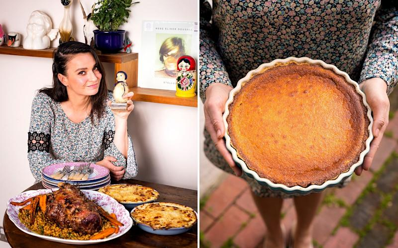 Gizzi Erskine shares some of her favourite Easter recipes, from garlic and rosemary lamb to Lemon Surprise pudding - Andrew Crowley