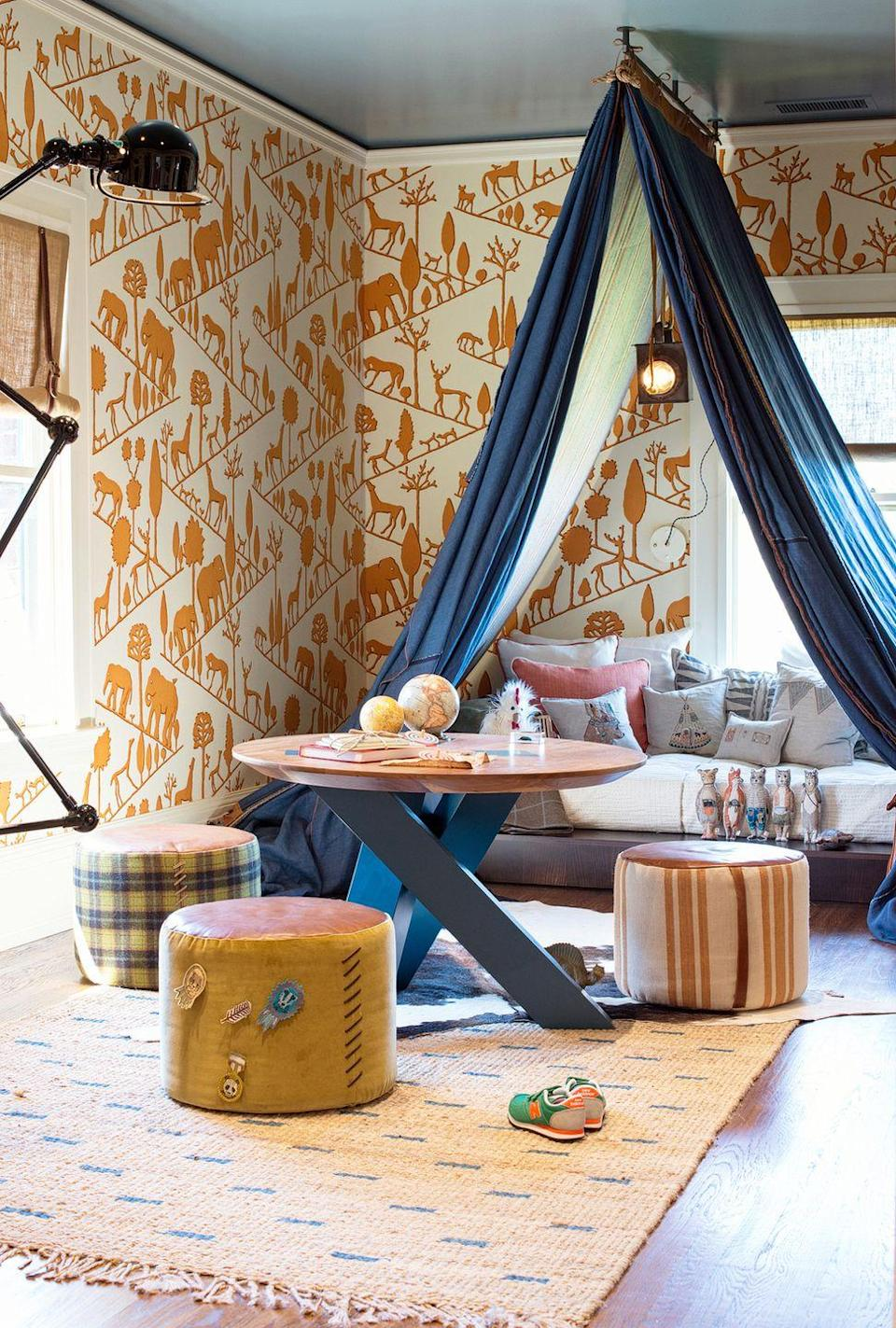 <p>Kids love building forts, and they'd also love hanging out under a real fort they don't have to dismantle every-time they built one in the common spaces. This one was dreamt up by none other than Regan Baker Design. </p>