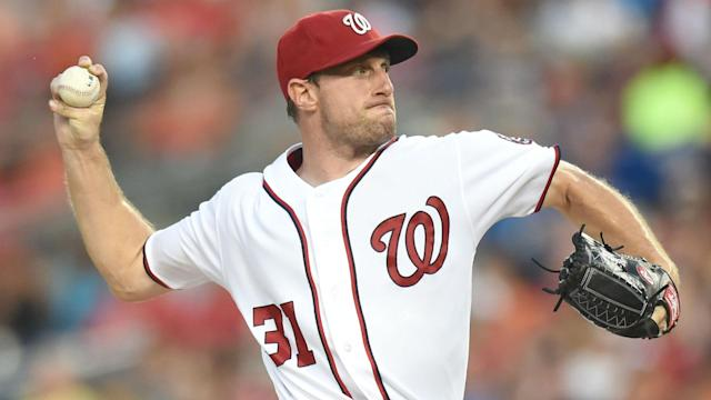 Scherzer could make his regular-season debut by Washington's third game of the season when the Nationals host the Marlins on April 6.