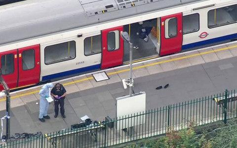<span>Forensic officers work at the Parsons Green Underground Station after the blast</span> <span>Credit: PA </span>
