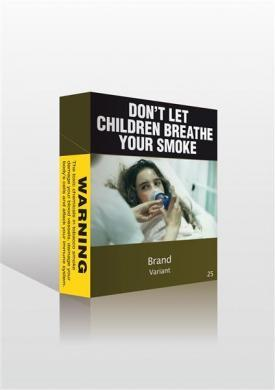 A proposed cigarette pack warning unveiled by the Australian government.