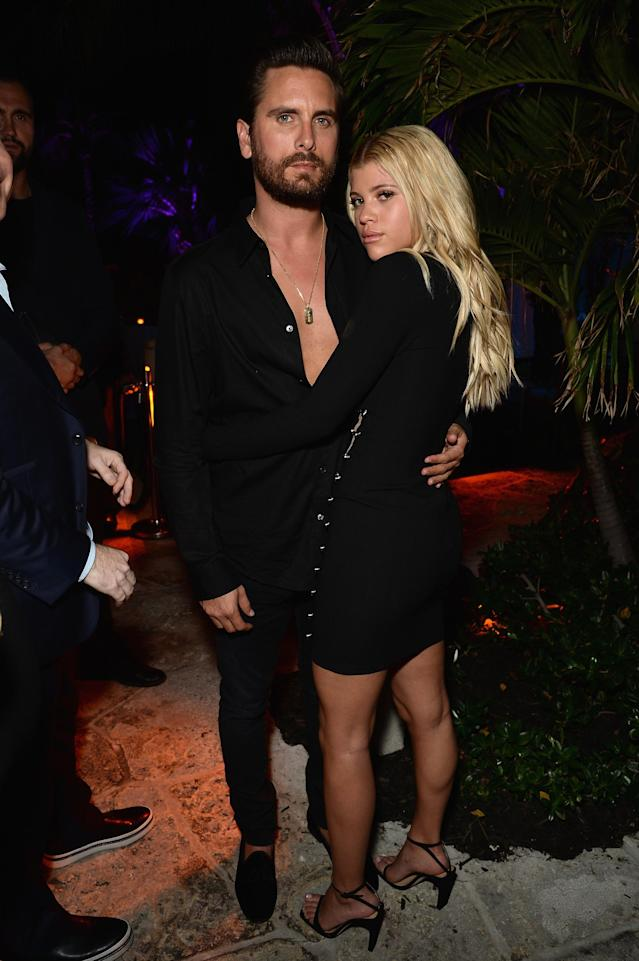 Scott Disick and Sofia Richie heat up Art Basel in Miami Beach, Fla. (Photo: Getty Images)