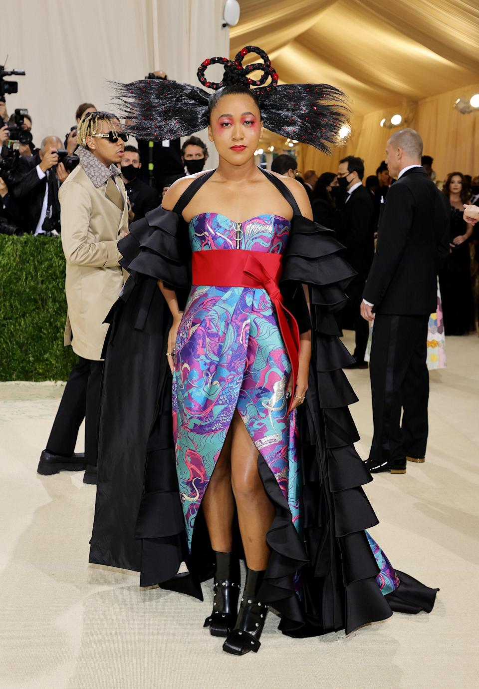 """<h1 class=""""title"""">The 2021 Met Gala Celebrating In America: A Lexicon Of Fashion - Arrivals</h1><cite class=""""credit"""">Mike Coppola/Getty Images</cite>"""