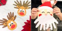 "<p>When is a <a href=""https://www.goodhousekeeping.com/home/craft-ideas/g2996/trash-to-treasure-christmas-crafts/"" rel=""nofollow noopener"" target=""_blank"" data-ylk=""slk:holiday craft"" class=""link rapid-noclick-resp"">holiday craft</a> more than a holiday craft? When it also serves as a sentimental keepsake that forever memorializes just how small your little one was on the day you made it together. We rounded up a bounty of Christmas craft ideas that turn prints or tracings of kids' hands, feet and fingers into precious projects. Think: <a href=""https://www.goodhousekeeping.com/holidays/christmas-ideas/g393/homemade-christmas-ornaments/"" rel=""nofollow noopener"" target=""_blank"" data-ylk=""slk:ornaments"" class=""link rapid-noclick-resp"">ornaments</a>, <a href=""https://www.goodhousekeeping.com/holidays/christmas-ideas/a23707988/what-to-write-in-a-christmas-card/"" rel=""nofollow noopener"" target=""_blank"" data-ylk=""slk:greeting cards"" class=""link rapid-noclick-resp"">greeting cards</a>, <a href=""https://www.goodhousekeeping.com/holidays/christmas-ideas/g29148339/best-christmas-gift-tags/"" rel=""nofollow noopener"" target=""_blank"" data-ylk=""slk:gift tags"" class=""link rapid-noclick-resp"">gift tags</a> and more. Most of these are super simple so even the littlest crafters can participate. Plus, they're affordable and easy to whip up using materials you probably already have at home. Take a look below and enjoy our lsit of 15 Christmas handprint and footprint crafts to try this season ... and keep forever.</p>"