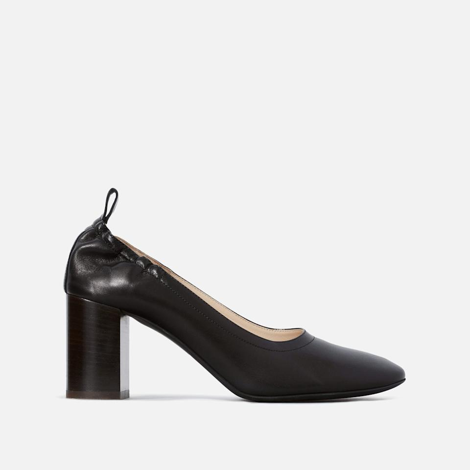 """<h3><a href=""""https://www.everlane.com/products/womens-day-high-heel-black"""" rel=""""nofollow noopener"""" target=""""_blank"""" data-ylk=""""slk:Everlane The Day High Heel"""" class=""""link rapid-noclick-resp"""">Everlane The Day High Heel</a></h3><br><a href=""""https://www.everlane.com/"""" rel=""""nofollow noopener"""" target=""""_blank"""" data-ylk=""""slk:Everlane"""" class=""""link rapid-noclick-resp"""">Everlane</a>, back at the top of our carts yet again with an irresistible markdown on this pair of high-stacked, Italian-leather heels —which made an appearance in our R29 Sunday shopping newsletter. <br><br><strong>Everlane</strong> The Day High Heel - Black, $, available at <a href=""""https://www.everlane.com/products/womens-day-high-heel-black"""" rel=""""nofollow noopener"""" target=""""_blank"""" data-ylk=""""slk:Everlane"""" class=""""link rapid-noclick-resp"""">Everlane</a>"""