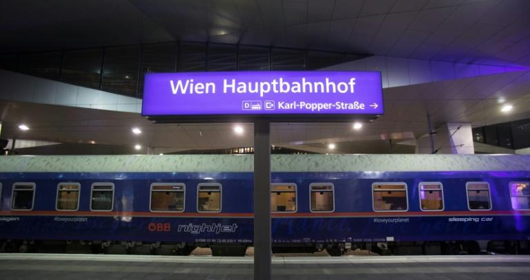 Scheduled to arrive in Brussels at 10:55 am on Monday, the rail journey from Vienna emits less than a tenth of the CO2 per passenger than the equivalent flight