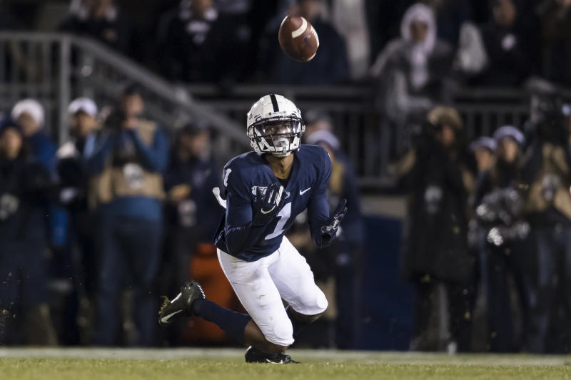 KJ Hamler is a dangerous punt returner but sometimes tries to do too much. (Photo by Scott Taetsch/Getty Images)