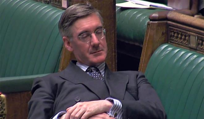 UK Commons leader Jacob Rees-Mogg was slammed for slouching during a Brexit debate. Photo: DPA