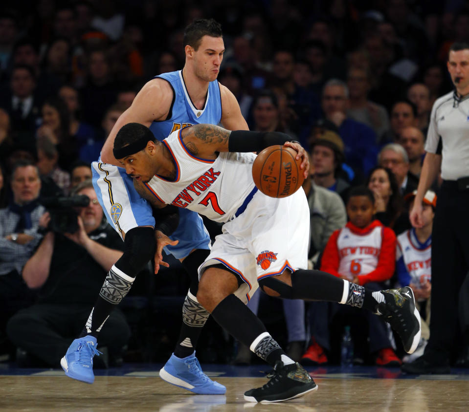 Danilo Gallinari was a centerpiece of New York's 2011 trade for Carmelo Anthony. (Reuters)
