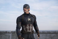 <p>The First Avengers can't compromise his values to sign the Sokovia Accords and turn his back on his lifelong pal Bucky Barnes. Those choices make Cap an unlikely enemy of the state. <i>(Photo: Disney)</i></p>