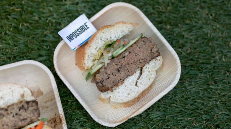 sample serving of Impossible Burger