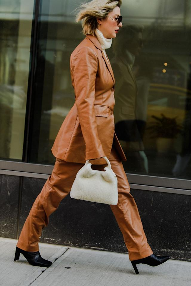 <p>Kerry Pieri suits up in style. </p>