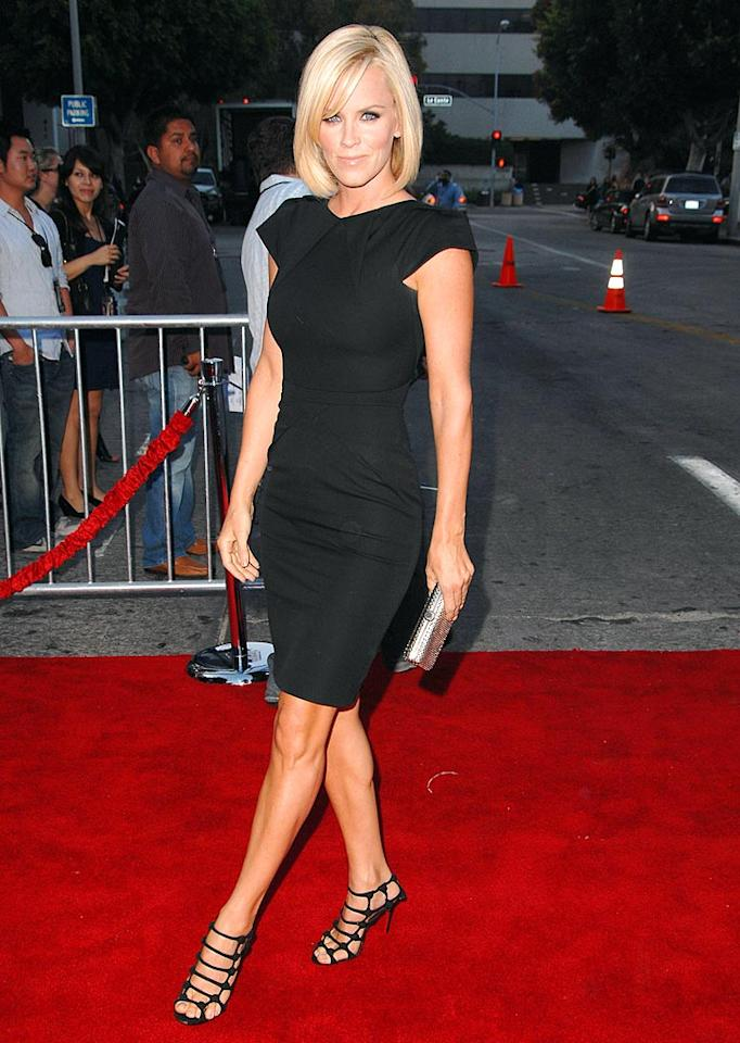 "Jenny McCarthy kept it simple in a chic black dress and gorgeous heels at the ""Pineapple Express"" premiere ... and she's never looked better! Steve Granitz/<a href=""http://www.wireimage.com"" target=""new"">WireImage.com</a> - July 31, 2008"