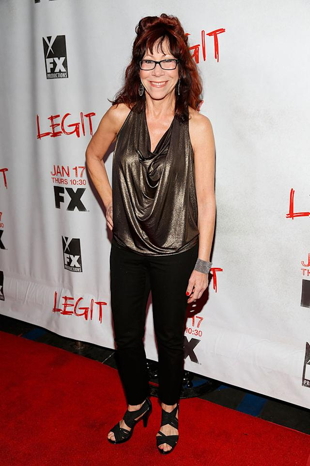"Mindy Sterling attends the screening of FX's new comedy series ""Legit"" on January 14, 2013 in Los Angeles, California."