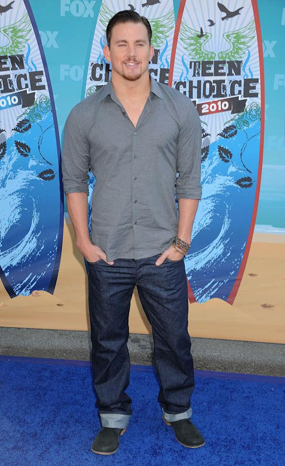 "<b>Channing Tatum (Grade: C+)</b>  The cuffed jeans and goatee aren't working for us, so the ""Dear John"" hunk only earned himself an average grade. Steve Granitz/<a href=""http://www.wireimage.com"" target=""new"">WireImage.com</a> - August 8, 2010"