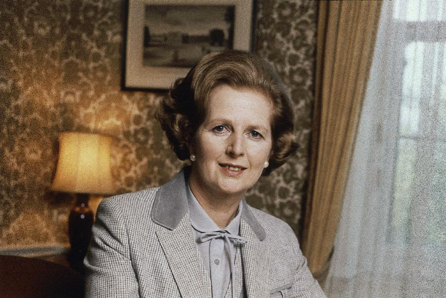 """FILE - This is a 1980 file photo showing British Prime Minister Margaret Thatcher. Ex-spokesman Tim Bell says that Thatcher has died. She was 87. Bell said the woman known to friends and foes as """"the Iron Lady"""" passed away Monday morning, April 8, 2013. (AP Photo/File)"""