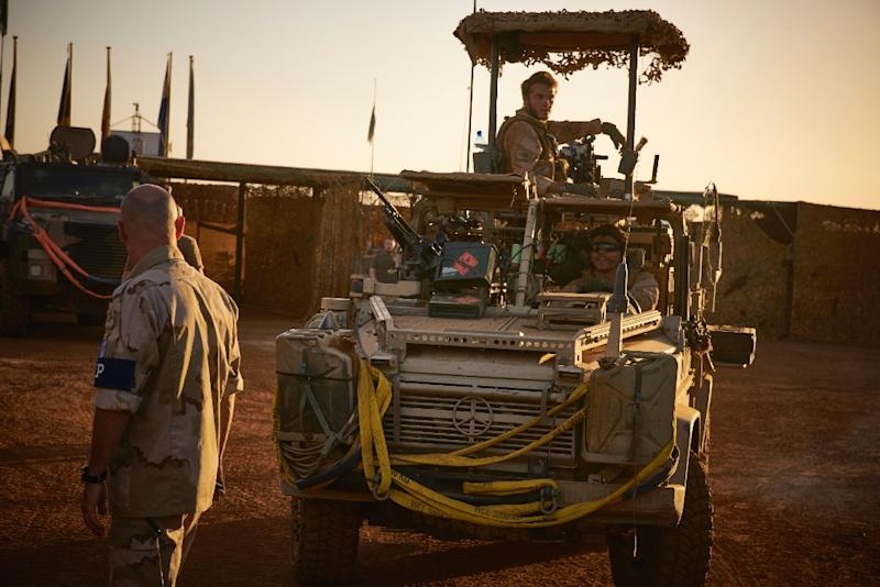 The West African G5 Sahel anti-jihadist force is getting some technical assistance from the UN peacekeeping mission in Mali (MINUSMA), some of whose troops are pictured in November 2017