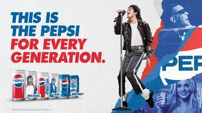 """This Is the Pepsi"" official packaging and creative for Pepsi Generations Summer campaign"