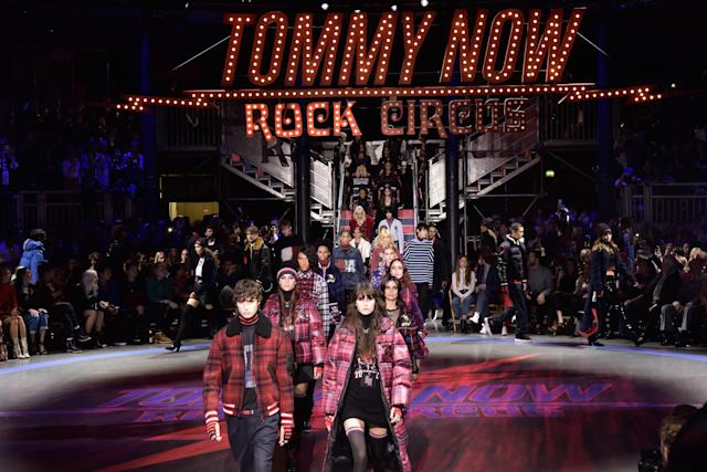 The circus-themed stage setting at the Tommy Hilfiger show in London. (Photo: Getty Images)