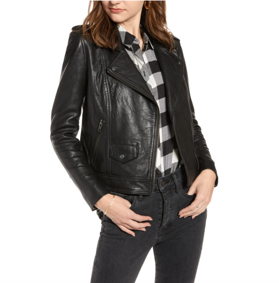 Leather Biker Jacket by Treasure and Bond is on sale now during the Nordstrom Made sale.