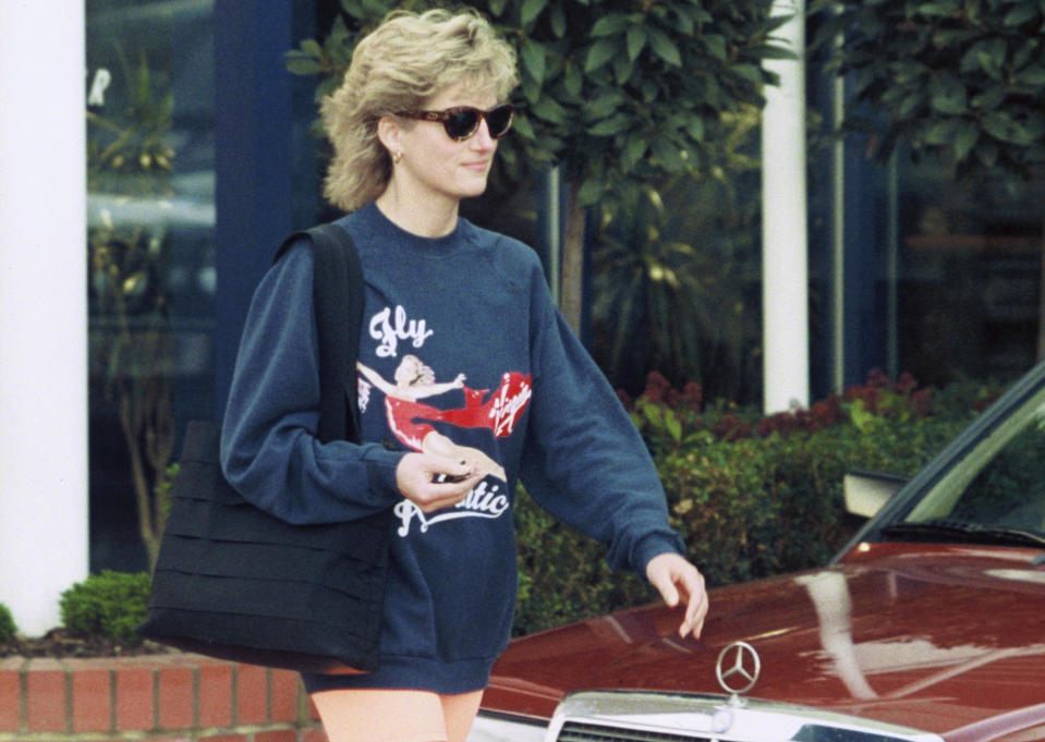 Princess Diana's favourite gym sweatshirt has sold at auction for an eye-watering sum [Photo: Getty]