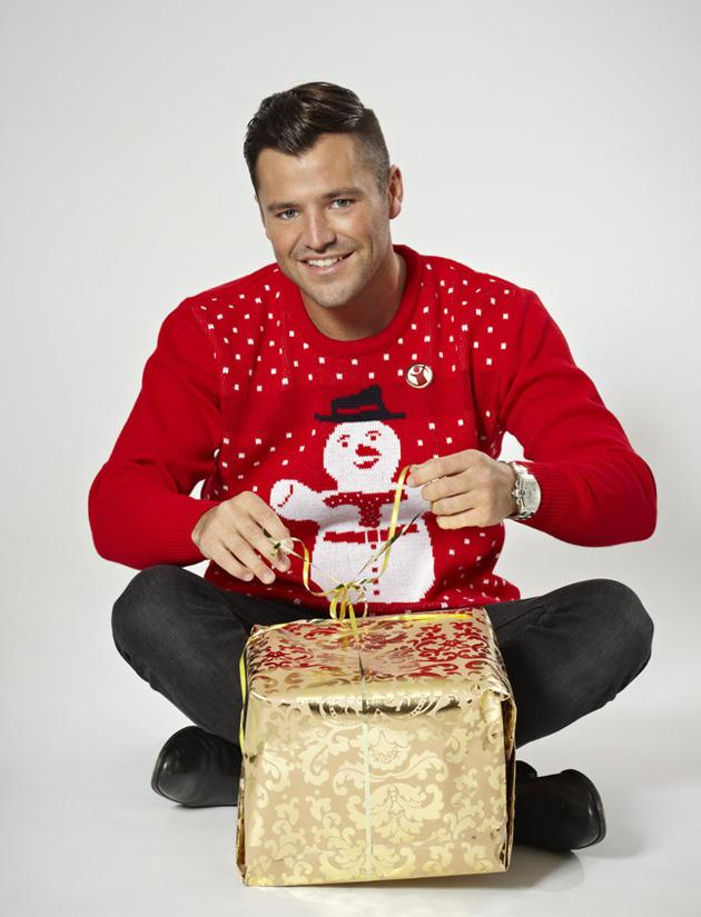 Mark Wright joined Myleene in the Save the Children campaign and rocked his snowman Christmas jumper. Copyright [PR image]
