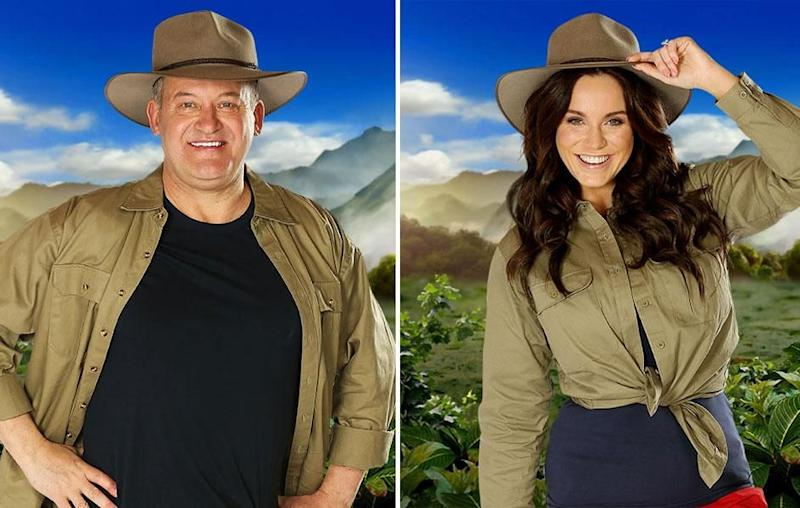 Late Princess Diana's butler Paul Burrell and Geordie Shore's Vicky Pattison entered the jungle during Monday night's episode of Australia's I'm A Celebrity... Get Me Out Of Here! Source: Channel Ten
