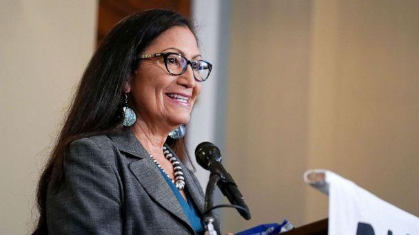 PHOTO: Rep. Deb Haaland at the Back the Thrive Agenda press conference in Washington, Sept. 10, 2020. (Jemal Countess/Getty Images, FILE)
