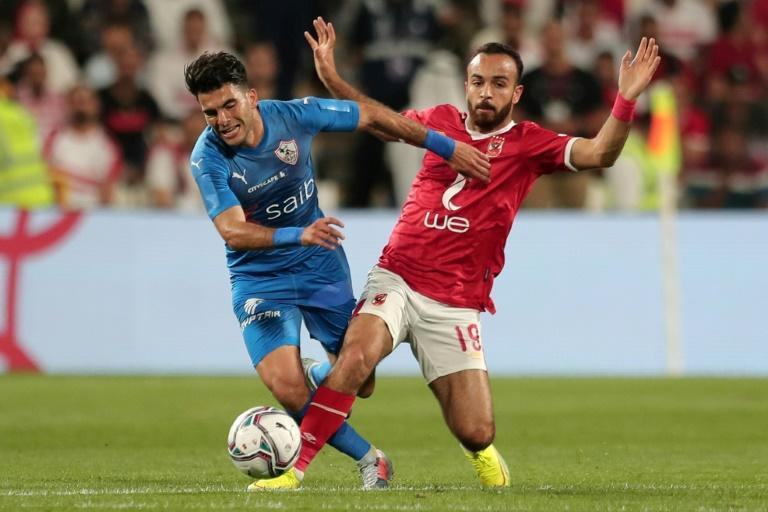 Ahmed Sayed (L) scored the winner in a dramatic Egyptian FA Cup quarter-final victory for Zamalek over Masr.