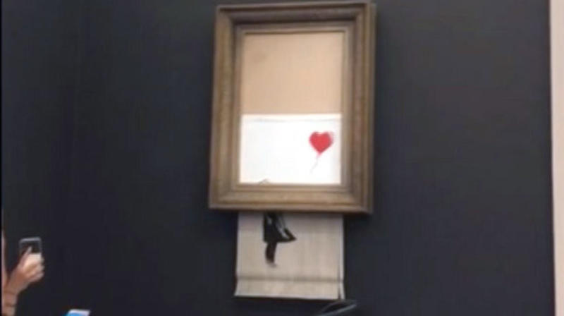 New Banksy Video Suggests Shredded Painting Stunt Didn't Go Entirely To Plan