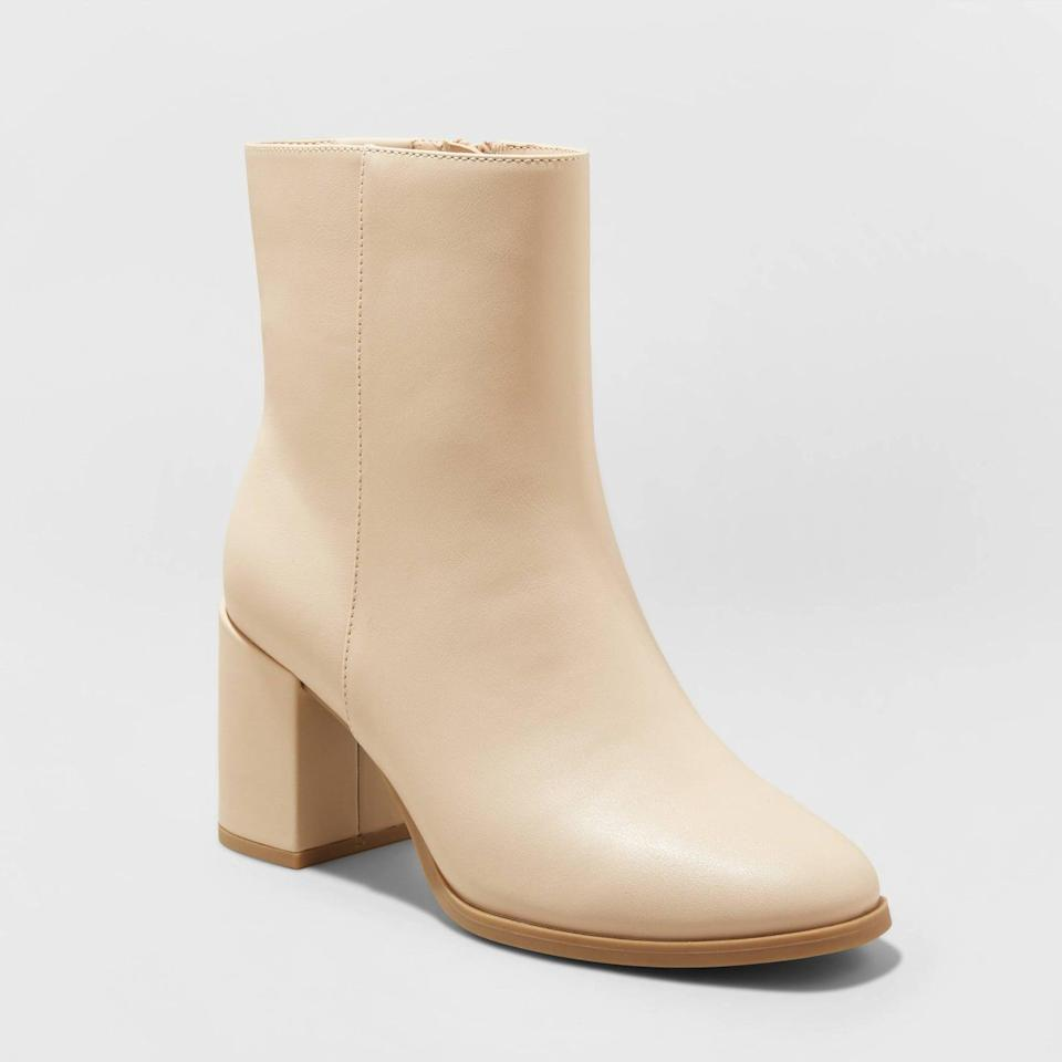 <p>These <span>A New Day Janelle High Shafted Boots</span> ($40) are of a particularly fall-friendly color, yet the color can be worn year-round. Pair them with a midi skirt or maxi dress.</p>