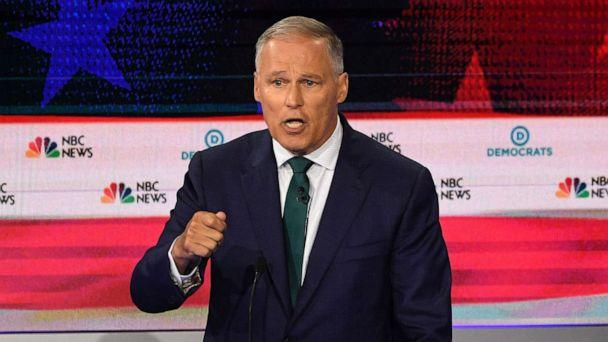 PHOTO: Jay Inslee participates in the first Democratic primary debate hosted by NBC News at the Adrienne Arsht Center for the Performing Arts in Miami, Florida, June 26, 2019. (Jim Watson/AFP/Getty Images)