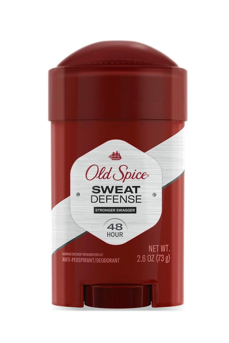 "<p><strong>Old Spice</strong></p><p>target.com</p><p><strong>$7.99</strong></p><p><a href=""https://www.target.com/p/old-spice-clinical-72-hour-sweat-defense-anti-perspirant-deodorant-for-men-stronger-swagger-1-7oz-160/-/A-80392202"" rel=""nofollow noopener"" target=""_blank"" data-ylk=""slk:SHOP IT"" class=""link rapid-noclick-resp"">SHOP IT</a></p><p>""Finally a deodorant that provides me clinical-strength sweat protection in a gentle non-irritating formula that smells great. It's nice to have options that complement my natural aura without being too strong,"" says Birmingham dermatologist Corey L. Hartman. </p>"