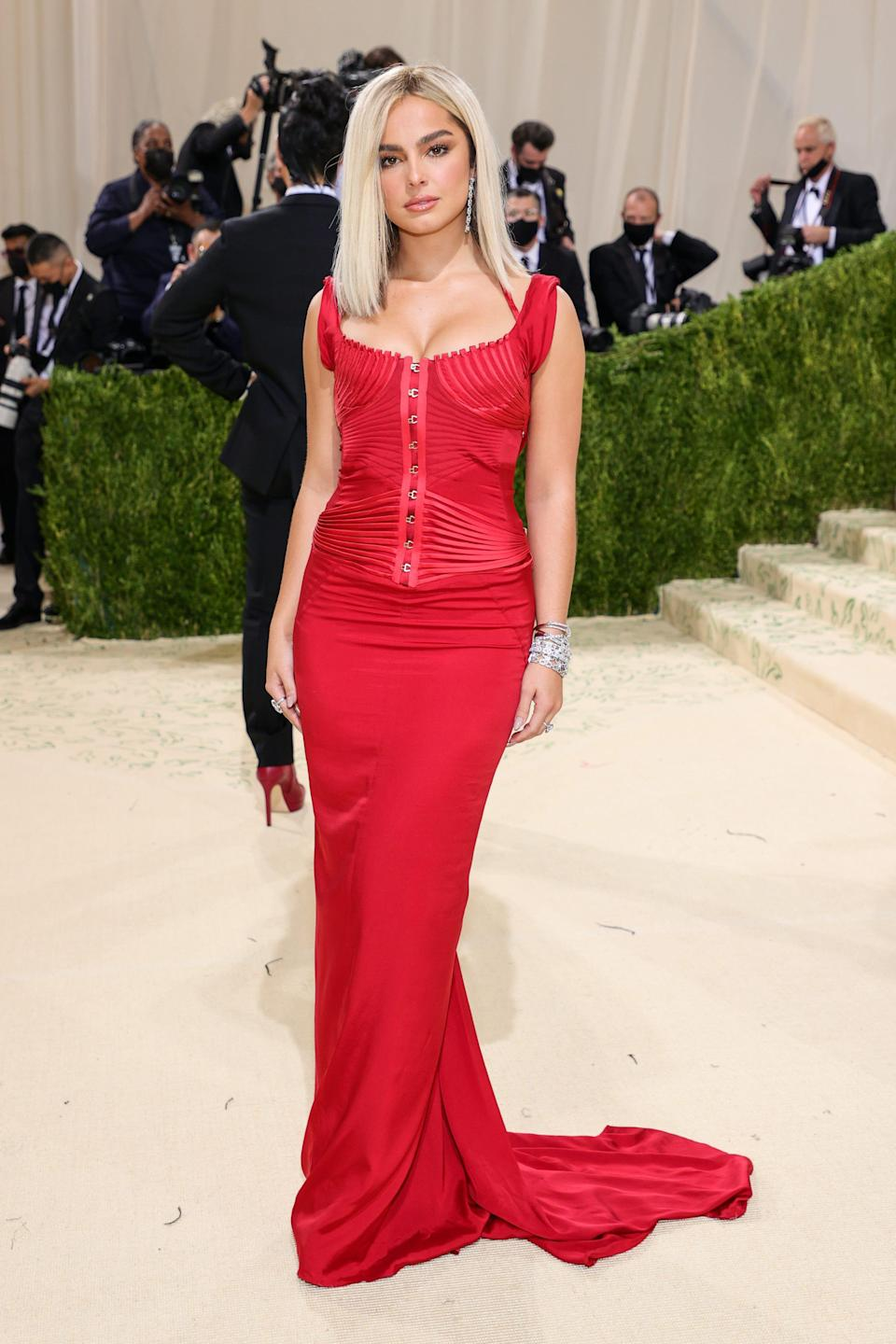 Addison Rae attends the 2021 Met Gala.