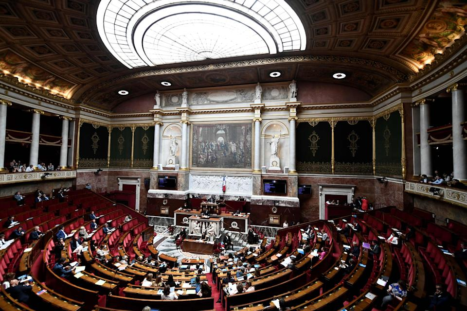 <p>A general view of a session at the French National Assembly in Paris.</p> (STEPHANE DE SAKUTIN/AFP/Getty Images)